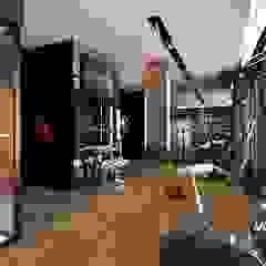 Nowoczesne i eleganckie wnętrze domu Nowoczesna siłownia od MONOstudio Nowoczesny