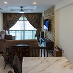 Punggol Field Asian style living room by Y&T Pte Ltd Asian