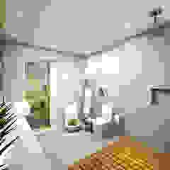 apartamento duplex FRPS Banheiros minimalistas por ecco! archi sudio Minimalista Madeira Efeito de madeira