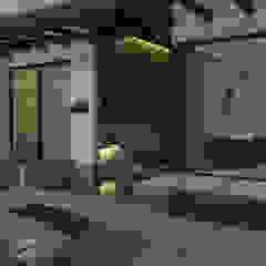 Zona húmeda - ambiente social Paredes y pisos de estilo moderno de Arquitecto Pablo Restrepo Moderno