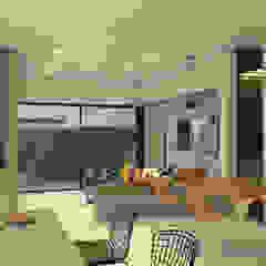 Diseño interior - sala comedor Salas modernas de Arquitecto Pablo Restrepo Moderno