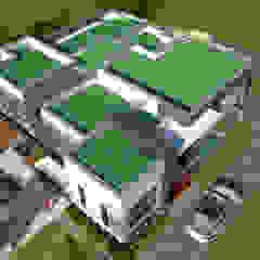 Perspectiva aérea de los techos Casas modernas de Arquitecto Pablo Restrepo Moderno