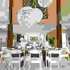 HOUSE M Mediterranean style dining room by Kirsty Badenhorst Interiors Mediterranean