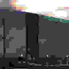 vista lateral izquierda Arquing3d Salas multimedia de estilo moderno Vidrio Azul