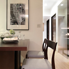 Modern dining room by 大集國際室內裝修設計工程有限公司 Modern