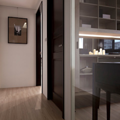 Modern Corridor, Hallway and Staircase by 大集國際室內裝修設計工程有限公司 Modern