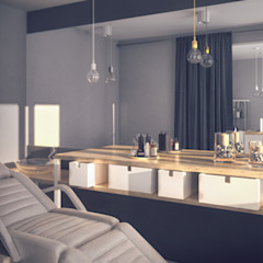 Projekt recepcji oraz Brow Baru. od hexaform Skandynawski
