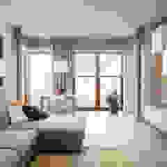 .rodzinne mieszkanie w Warszawie Skandynawski salon od Art of home Skandynawski