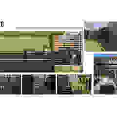 INTERIORISMO DE UNA VIVIENDA UNIFAMILIAR Jardines de estilo moderno de Arq. Marynes Salas Moderno