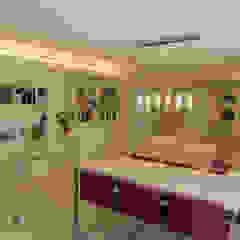 Sala da pranzo in stile scandinavo di Danma Design Scandinavo Legno composito Trasparente