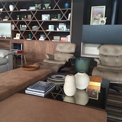 Salas de estilo moderno de luciana zeitel & marcella libeskind arquitetura e interiores Moderno