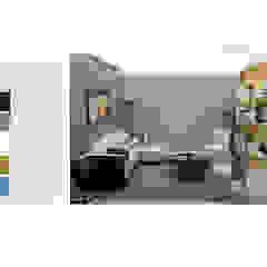 INTERIORISMO PARA UNA VIVIENDA UNIFAMILIAR DE 2 NIVELES Salas de estilo moderno de Arq. Marynes Salas Moderno