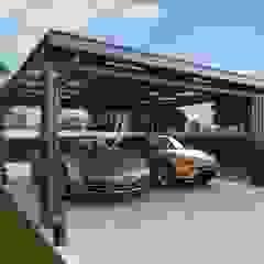 Garajes modernos de P-lona Moderno Hierro/Acero