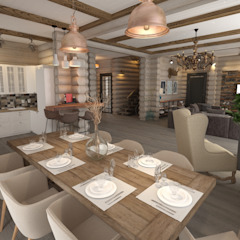 Rustic style kitchen by atmosvera Rustic Wood Wood effect