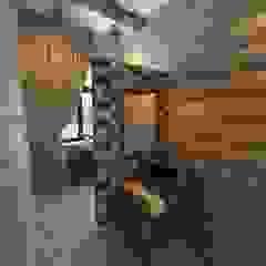 Rustic style bathroom by atmosvera Rustic Wood Wood effect