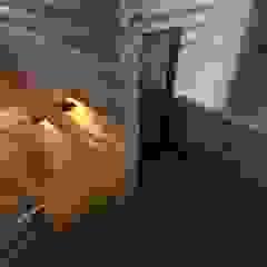 Rustic style corridor, hallway & stairs by atmosvera Rustic Wood Wood effect