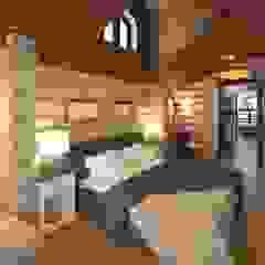 Rustic style bedroom by atmosvera Rustic Wood Wood effect