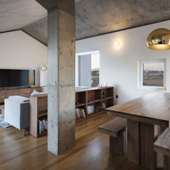 디귿집 러스틱스타일 다이닝 룸 by 에이오에이 아키텍츠 건축사사무소 (aoa architects) 러스틱 (Rustic)
