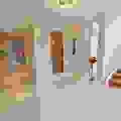 Draethen Farm House Conversion Smarta Modern corridor, hallway & stairs