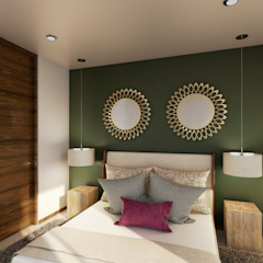 Tropical style bedroom by Taller Interno Tropical