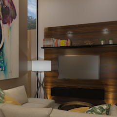 Tropical style media rooms by Taller Interno Tropical