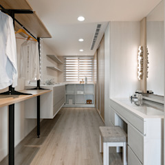 Ruang Ganti Gaya Eklektik Oleh 賀澤室內設計 HOZO_interior_design Eklektik