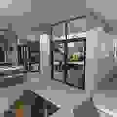 Muse Architects Ingresso, Corridoio & Scale in stile moderno