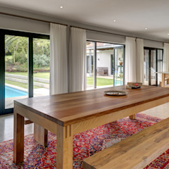 House Serfontein Rustic style dining room by Muse Architects Rustic