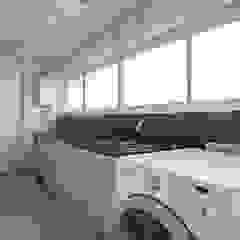 Apto na Chácara Klabin Paredes e pisos ecléticos por Espaço Alessandra Luz Casa & Jardim Eclético