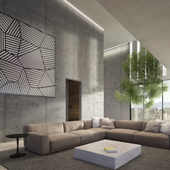 HAC Arquitectura Modern Living Room Concrete