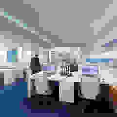 FLY GUAM HEADQUARTERS / OCEAN CENTRE - TST Modern office buildings by M2A Design Modern Glass