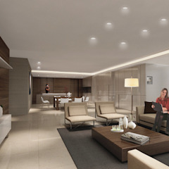 PRIVATE HOUSE - HAPPY VALLEY Modern living room by M2A Design Modern Wood Wood effect