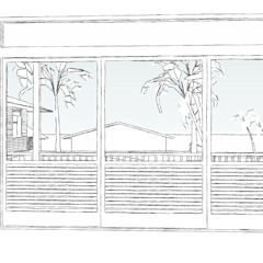 Tropical style windows & doors by ARM ARQUITETURA E URBANISMO Tropical