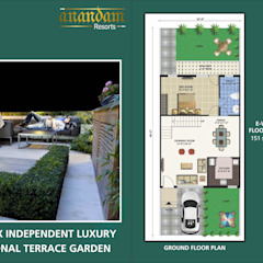 AnanDam Resorts Country style garden by Kansal Constructing Smart Cities Country