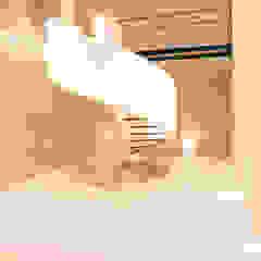 CASA MEMORY Pasillos, vestíbulos y escaleras modernos de Chetecortés Moderno Concreto