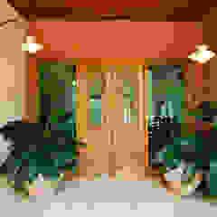 Rustic style corridor, hallway & stairs by Eustáquio Leite Arquitetura Rustic
