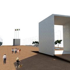 Praça dos 3 Poderes - SC Locais de eventos minimalistas por Promenade Arquitetura Minimalista