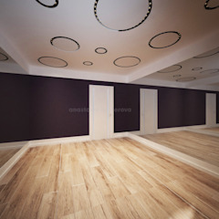 Classic style gym by Дизайн-студия Анастасии Нестеровой Classic Wood Wood effect