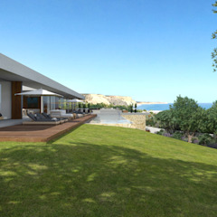 minimalist style balcony, porch & terrace by Areacor, Projectos e Interiores Lda Minimalist