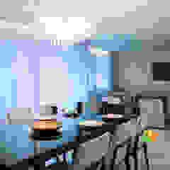 Sala de Estar e Jantar - Cliente N&D - Gutierres Salas de jantar mediterrâneas por Gislane Lima - Interior Design Mediterrâneo