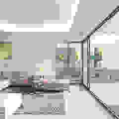 Villa Chloe - New Build Moraira Ruang Keluarga Gaya Mediteran Oleh Blue Square Real Estate Mediteran Keramik