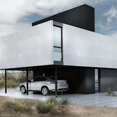 Proa Arquitectura Minimalistische Schlafzimmer Metall Weiß