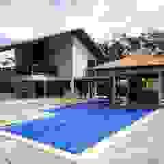 Casa de Campo Piscinas campestres por Guilherme Elias Arquiteto Campestre