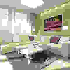 Lawendowa prowansja Śródziemnomorski salon od Home Atelier Śródziemnomorski