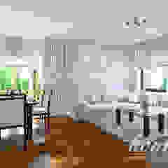 Śródziemnomorska subtelność Śródziemnomorski salon od Home Atelier Śródziemnomorski