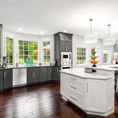 Viking Appliance Award Winning Kitchen by Main Line Kitchen Design Eclectic Quartz