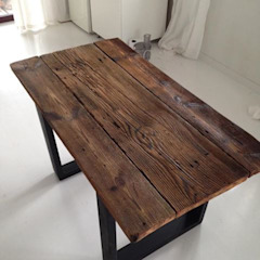 Rustic style dining room by Wichaister Rustic