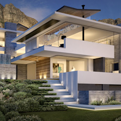 Camps Bay House 3 Modern houses by GSQUARED architects Modern Reinforced concrete