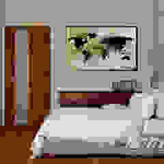 Kolonialny vintage Kolonialna sypialnia od Home Atelier Kolonialny