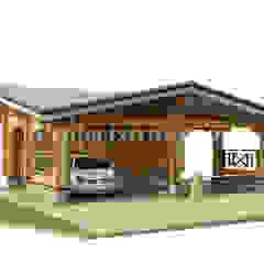 Garajes escandinavos de Projectstroy Escandinavo Madera Acabado en madera